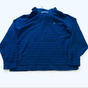 Quiksilver Blue Stripped Hoodie Size XL